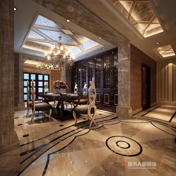 地面的材质上以亮面的瓷砖处理,晶莹剔透的釉面映衬着低调奢华的家居饰品,让整个家的氛围舒适、低调,但同时又显得时尚、高贵和奢华!