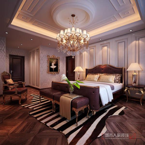 沉稳大气的布局,增添卧室的鉴赏艺术度,从整体布局可以看到设计后的精湛装修,使欧式风格呈现的美观效果图更为显著而突出。