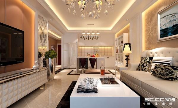 将区域合理分割,通过玻璃,镜面和丝绸等材质凸显欧式新古典的奢华元素。