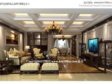 中洲阳光210户型美式风格