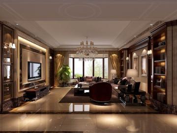金隅翡丽 230坪 美式古典风格