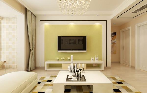 客厅: 影视墙干净利落的线条,很符合整体的风格要求