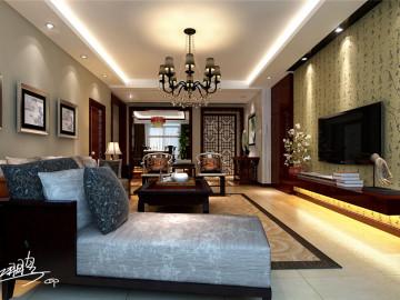 悦泽苑160平中式古典风格案例