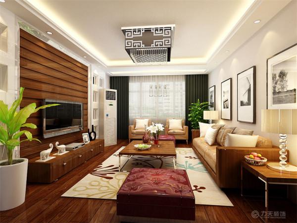 这个户型的风格设计成一个现代简约的风格,这样的风格可以让户型显得更加的宽阔,敞亮。整个户型以白色的吊顶为主,回型的吊顶,以及吸顶灯为主要的吊顶元素。