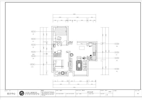 该户型金隅悦城  两室两厅一厨一卫68平方米,入户门右手边是餐厅位置,空间宽敞,适合放置6人餐桌,后期会在设计上进行区分空间。