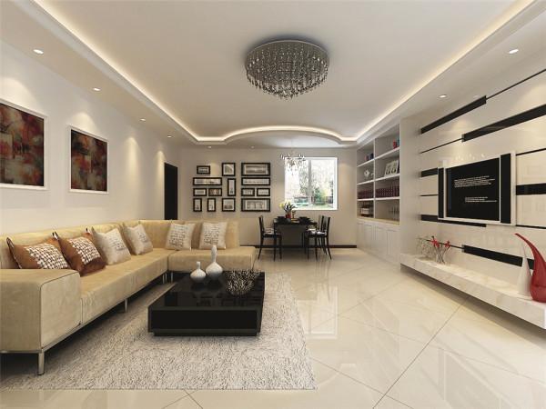 此房为老房改造,此案例的设计风格为现代简约,主体色调为黑白灰,客厅主亮点电视背景墙搭配,整体色调简单干净,搭配浅色抛光地砖,