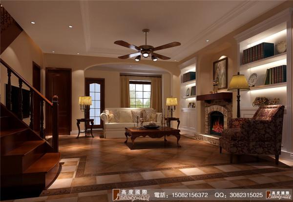 保利百合花园客厅细节效果图---高度国际装饰设计