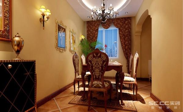 客厅电视背景墙的造型及墙面的壁纸和地面的地砖相得益彰,使空间更加奢华