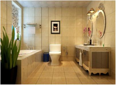 设计理念:打造一个奢华的私密空间,仅仅属于主人自己,所以米色的砖和纯白的洁具形成鲜明对比,让空间显得尤为大气