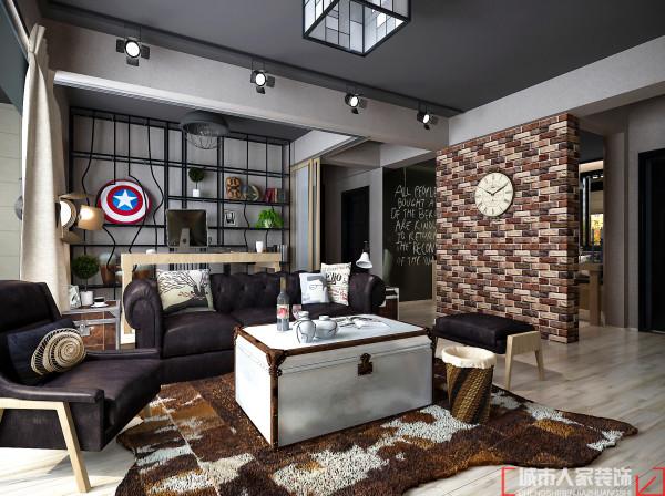 本案摒弃了传统的装饰材料和装修感觉,运用大量原生材料,红砖,原木,原始水泥墙,主张新旧融合、兼容并蓄的折衷主义立场。动线方面从新做了规划,使厨房餐厅融为一体,客厅和工作间融为一体。