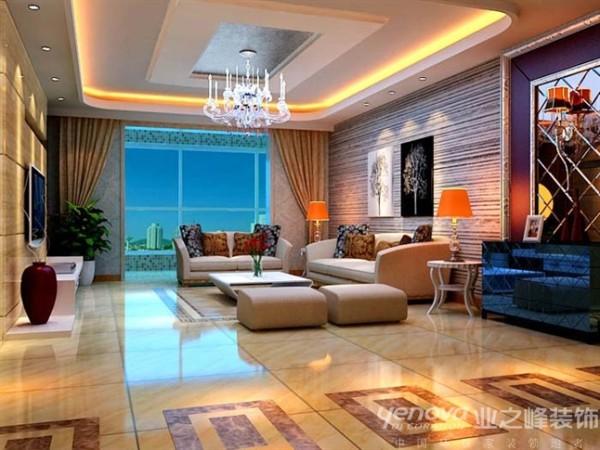背景墙面多采用灰色和麦黄色,局部软饰的点缀配置,背景墙面上少而精的装饰挂画可以使墙面不至于过于的单调,客厅整体感觉宽闯而不空旷。