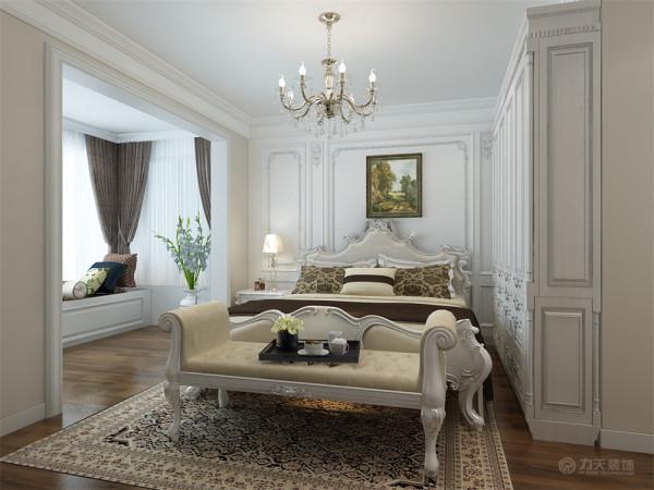 主卧室地面选用木质地板图片