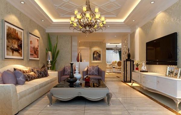 电视背景墙和全屋的壁纸的选择上,比较多的运用有特色的墙纸装饰房间,暖色调金色 、暗色调布纹印花就是很典型的欧式风格。北美风格中,条纹和碎花是很常见的。现代感中不乏欧式的奢华。