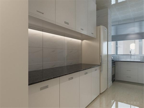 此次设计方案定义为简约风格。客厅与餐厅是整个在一个空间的格局。厨房是半开方式厨房,增加区域与彩光;