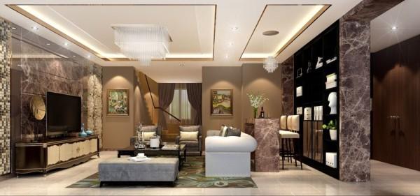 香港的室内设计潮流多以现代为主,港式风格客厅布置宜简洁自然,色彩和谐,暖色沙发将客厅布置为开放式,电视墙个性的线条设计凸现客厅布置强调的时尚感。