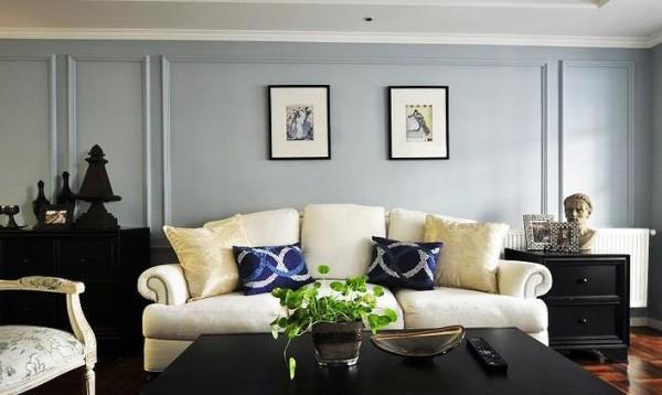 客厅沙发区正面图