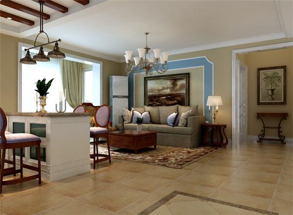 现代欧式的混搭。正常的两居室,经过改造后,是厨房与客厅和为一体,扩大了空间,把小户型装出了大宅的风范。别具一格的风格特色,规律中又着不同的韵律。