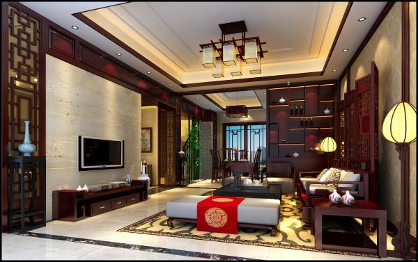 设计过程的重点是现代和古典的完美融合。为营造出一个开放的空间形态,设计师把客厅和餐厅融合一起,通过电视背景的实木线条和餐厅背景连成一体,形成完美的空间感。