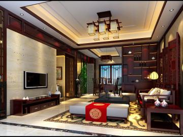 碧桂园350平 中式风格