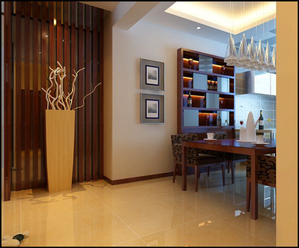 厨房开放增大变餐厅 设计师把厨房两侧的轻体墙全部拆除,把门口小过道的空间全部划分进整个区域。