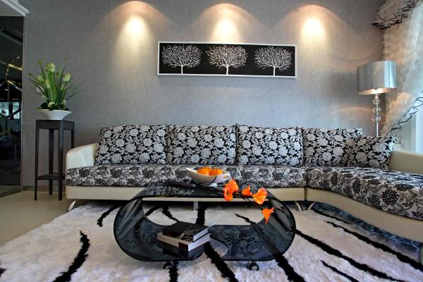 客厅沙发墙面设计效果展示,