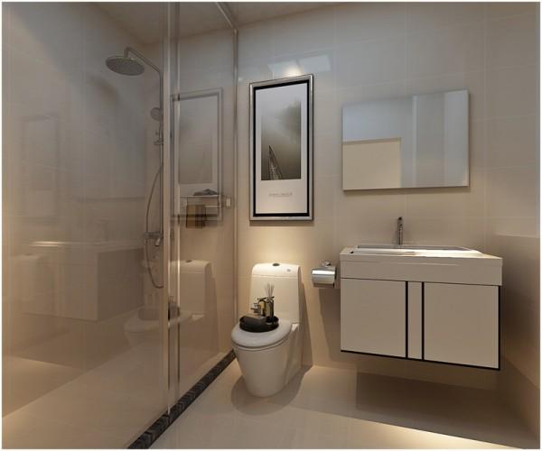 四居简约收纳80后小资旧房改造卫生间装修效果图片_美