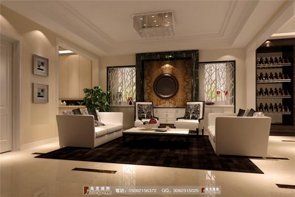 城南逸家客厅细节效果图---高度国际装饰设计