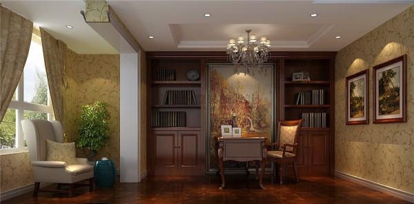 天鹅湖花园F2户型欧式风格 成都高度国际 书房