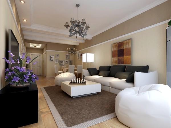客厅沙发墙面设计效果展示,整个设计不做过多复杂修饰,根据现代年轻人简约时尚的要求,整体的色彩选用暖黄色做主色彩搭配,配合褐色做辅色。非常的温馨舒适。