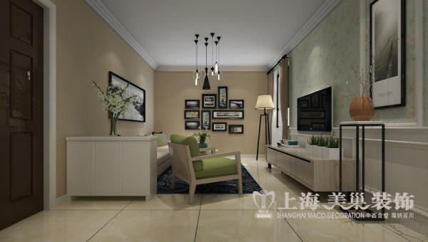 升龙城装修案例效果图两室两厅89平简约风格案例效果图——客厅装修效果图