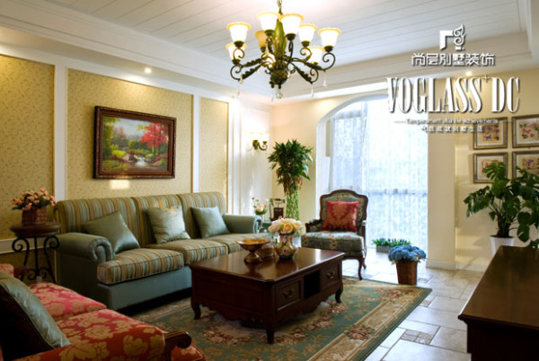 法式乡村风格—客厅