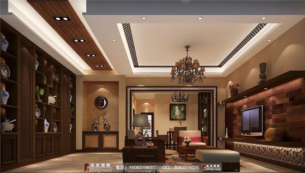 四海逸家客厅细节效果图----高度国际装饰设计