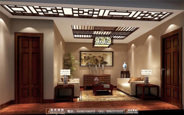 四海逸家起居室细节效果图----高度国际装饰设计