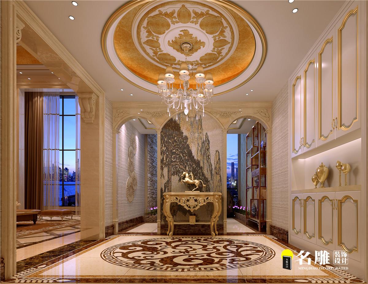 别墅 商人 奢华高贵 玄关图片来自名雕装饰设计在和黄懿花园巴洛克图片