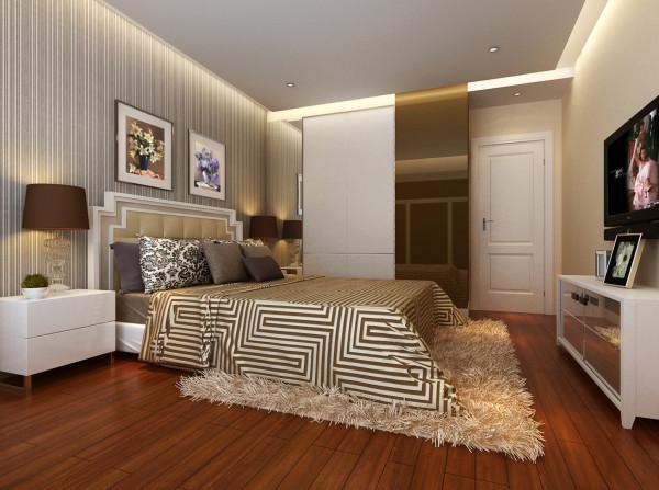 合肥实创装饰|苹果小镇-简约主义风格的特色装修-卧室装修效果图-合肥装修公司