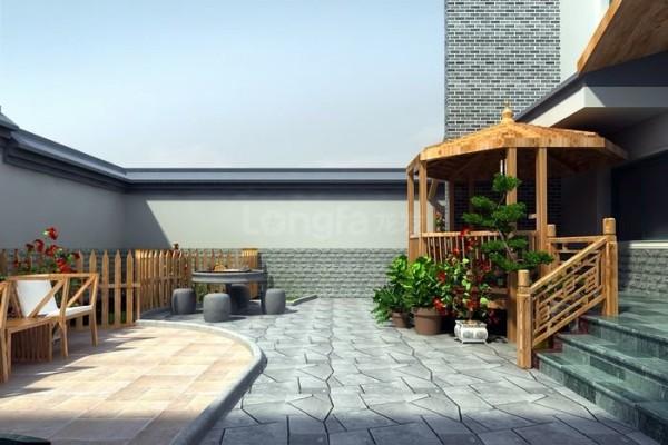现代中式风格阳台效果图