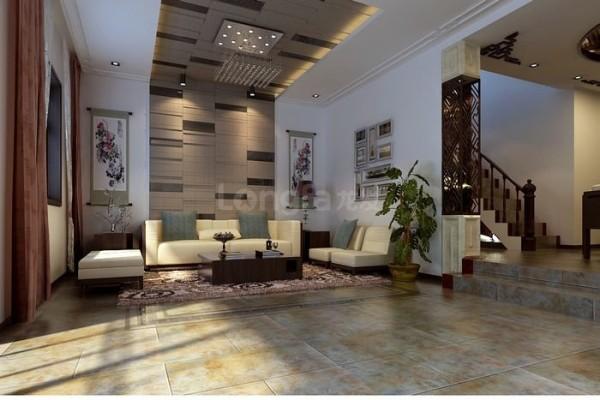 现代中式风格门厅效果图
