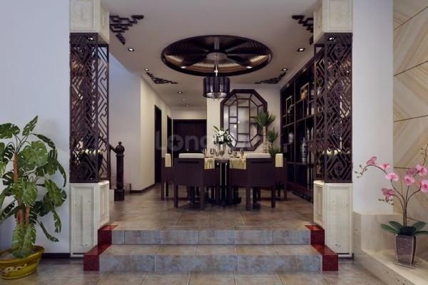现代中式风格餐厅效果图