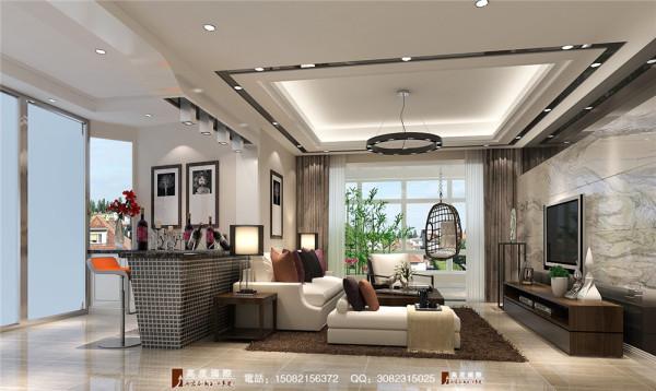 半岛城邦客厅细节效果图---高度国际装饰设计