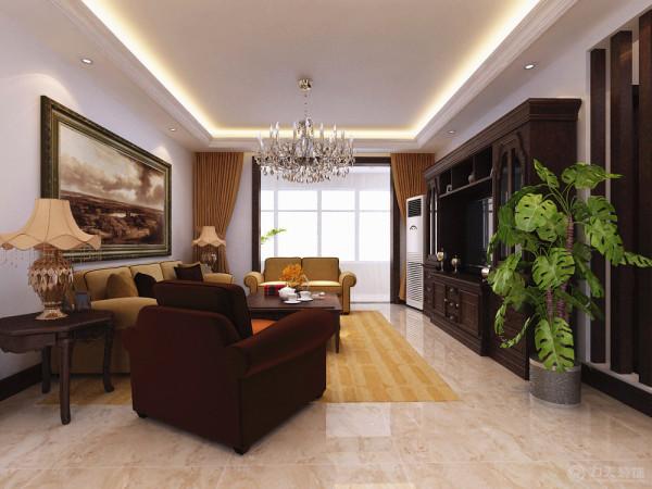 本案是泰达风景三室一厅两卫一厨140平米的户型,新古典的设计风格其实是经过改良的古典主义风格。