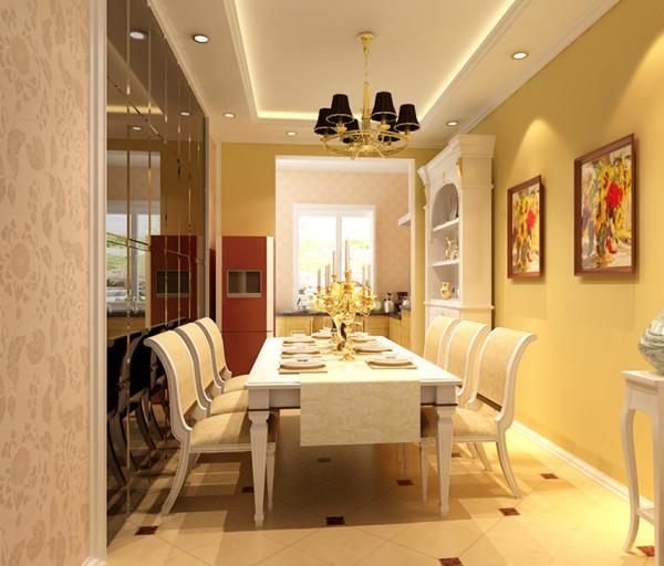 信达银杏尚郡-140平米-欧式风格装修-餐厅装修效果图-合肥装修公司-合肥实创装饰