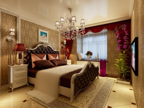 信达银杏尚郡-140平米-欧式风格装修-卧室装修效果图-合肥装修公司-合肥实创装饰