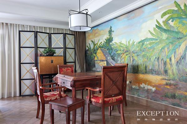 大面积落地窗,开放的格局布置让客厅区显得明亮宽敞,柔和的自然光线让一切家私材质袒露出原本的肌理和自然的色泽,不正迎合了美式生活方式的自由随意、天然舒适么。
