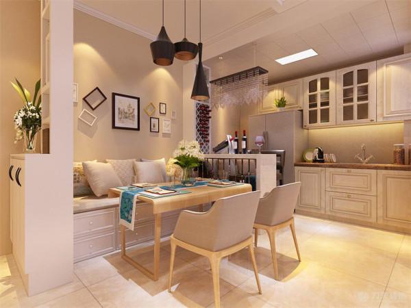 餐厅和客厅之间的过道顶面采用300*300石膏板拉缝加石膏板收边.