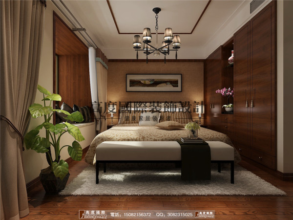 首航欣程卧室细节效果图----高度国际装饰设计