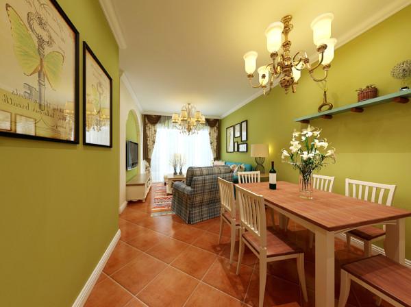 地中海风格的餐厅,带有地中海风格特有的浪漫气息。餐桌靠墙摆放,卡座式的设计给这个角落显得很特别。餐桌一侧的装饰着大大小小不同风格的装饰品,更是让餐厅显得精致许多。