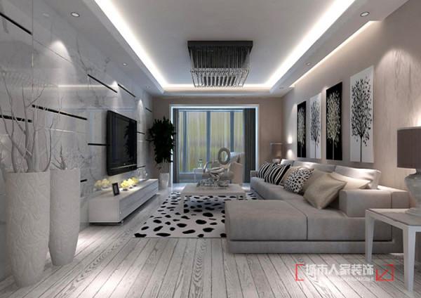 现代简约的水晶灯使空间丝毫不显突兀,柔和的灯光点亮一室的温馨与浪漫,开阔的格局个人带来视觉上的通透感,爵士白的墙砖,木纹色的地板与整体融为一体,营造出家的温暖。