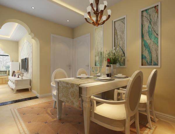 餐厅:餐厅为暗厅,所以在次卧室的墙上开了窗子,增加了采光点,同时也是餐厅的背景。