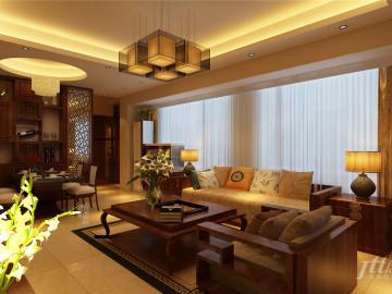 同创新作新中式三居室