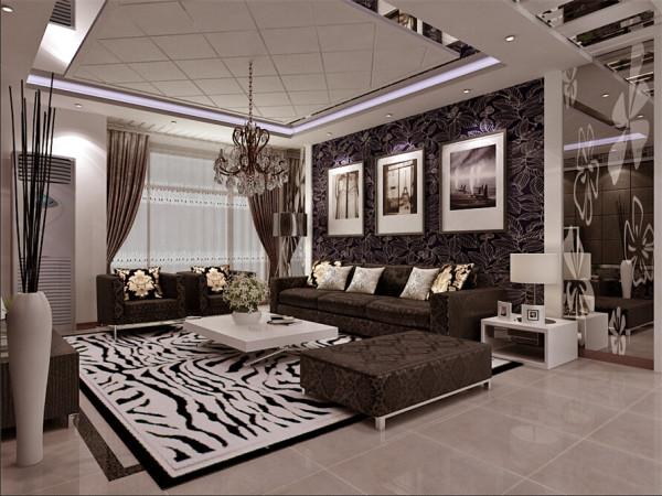 客厅采用灰色系的沙发,多出运用了壁纸和笔画的配饰更能体现出现代简约风格的特色,背景墙在色彩上形成一二层的完美统一,渲染出客厅的简单大方,沙发背景墙上的两幅精美装饰画更能体现出客厅大气温和的气氛